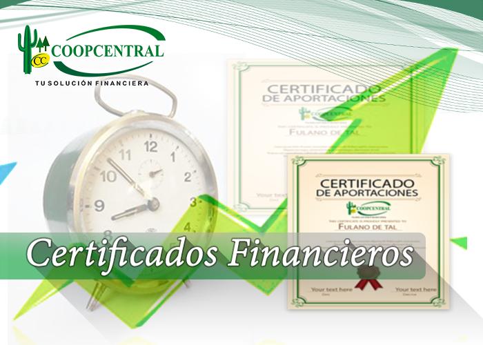 Certificados Financieros Coopcentral